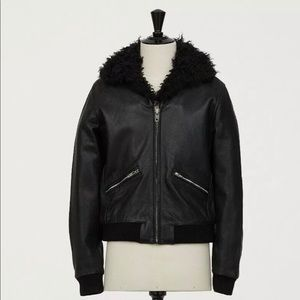 Giambattista Valli Black Leather Jacket Coat XS
